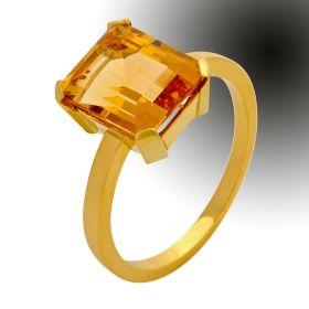 Citrin-Ring in 14karätigem Gold