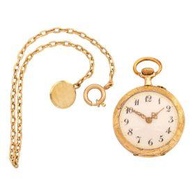 Antike Taschenuhr mit Uhrenkette