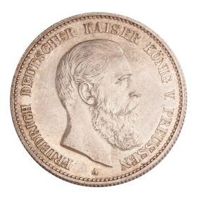 Silbermünze Deutsches Reich 2 Mark - Kaiser König von Preußen