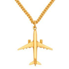Anhänger – Flugzeug inkl. Halskette in 750er Gold