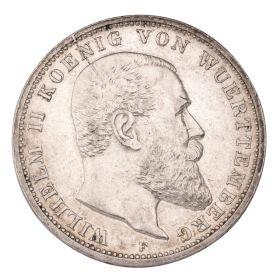 Set – 4 Münzen 3 Mark Deutsches Reich – Koenig von Württemberg