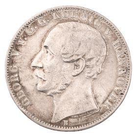 Silbermünze – Vereinsthaler 1862 – Georg V. von G.G. KOENIG von HANNOVER