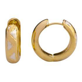 Elegante Creolen in 585er Gold – Bicolor