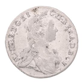 Antike Silbermünze von 1750 – Ungarn 15 Kreuzer Maria Theresia
