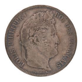 Münze 5 Francs Frankreich 1837