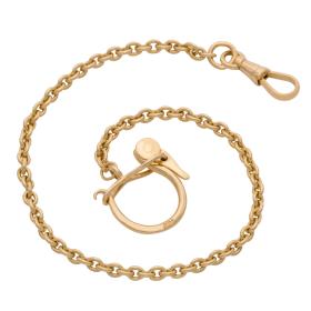 Uhrenkette oder Schlüsselkette in 750er Gold