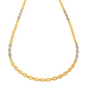 Luxeriöse Unisex Halskette mit 192 Brillanten