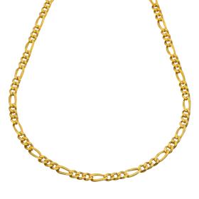 Unisex Figarokette in 585er Gelbgold – 51 cm lang