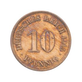 Set 2 Kursmünzen Deutsches Reich 10 Pfennig